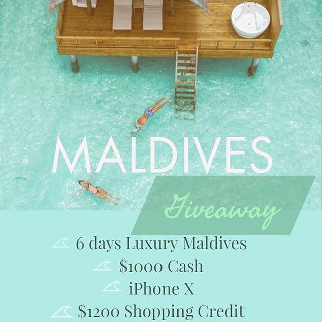 ✨Luxury MALDIVES GIVEAWAY & IPHONE X✨ . 1️⃣.WINNER: 💫A 6 Days (5 Nights) stay in the gorgeous Fushifaru Beach Resort in MALDIVES with (daily breakfast) for 2! 💫 $1000 Cash  2️⃣.WINNER: 💫 IPHONE X (or $1000 Cash) 3️⃣.WINNER: 💫$200 shopping credit from @peoplesprojectla 4️⃣.WINNER: 💫$200 shopping credit from @peoplesprojectla 5️⃣.WINNER: 💫$200 shopping credit from @peoplesprojectla 6️⃣.WINNER: 💫$200 shopping credit from @d_margaret_swimwear 7️⃣.WINNER: 💫$200 shopping credit from @d_margaret_swimwear 8️⃣.WINNER: 💫$200 shopping credit from @d_margaret_swimwear . TO PARTICIPATE, follow these simple steps: 1⃣ FOLLOW ALL ACCOUNTS @fantastictravelgifts is following  2⃣ TAG one friend in the comments below (Multiple entries allowed by tagging one friend per comment) . *Open internationally. Ends on July 22th. Winner must be following ALL accounts and will be announced on @fantastictravelgifts. This is in no way sponsored by Instagram and Paypal. By participating you confirm that you are +18 years of age. Photo by: 📸 @seefromthesky