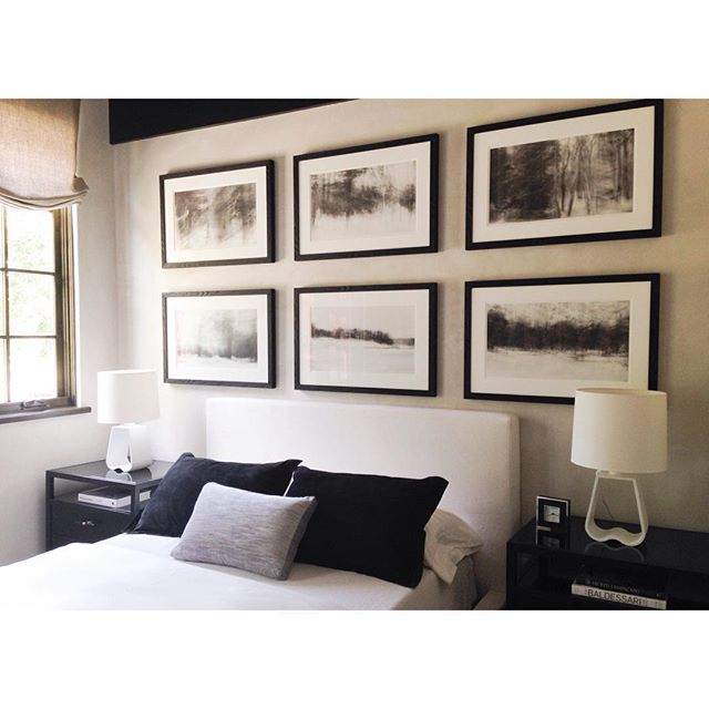 Neutral and welcoming guest room. #blackandwhitedesign #interiordesign #guestroom #customresidential