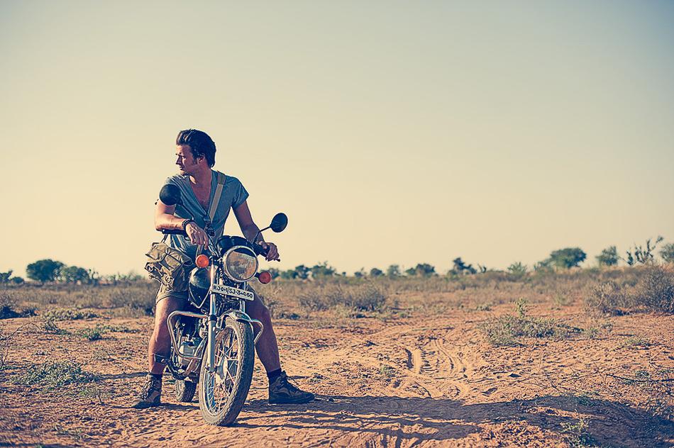Me, looking super-sassy on a motorcycle. Pushkar, India 2011. ©Jens Lennartsson