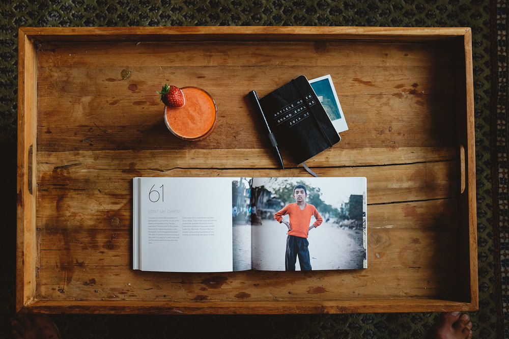 My Hide In Plain Sight book and a smoothie. For mind and body. ©Jens Lennartsson