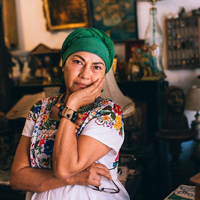 Tabata, the owner of a small antique shop in Mexico. I knew this was gonna be my favourite shot on the entire trip right after i took it.