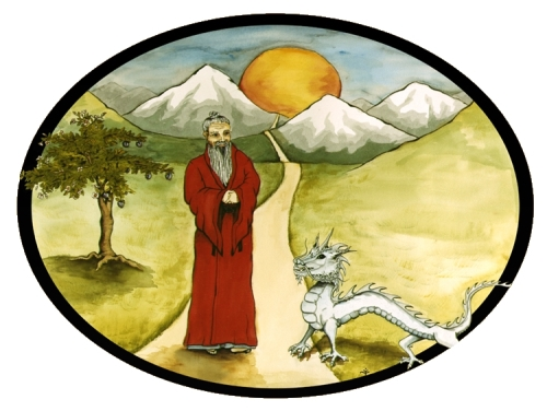 Insignia of the Martial Arts Center painting