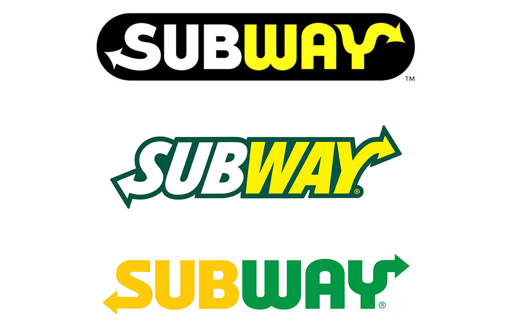 Subway logos through the years.