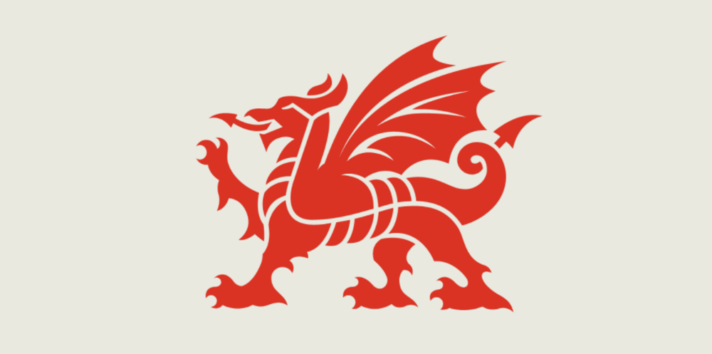 New dragon logo for the government of Wales by Smörgåsbord.
