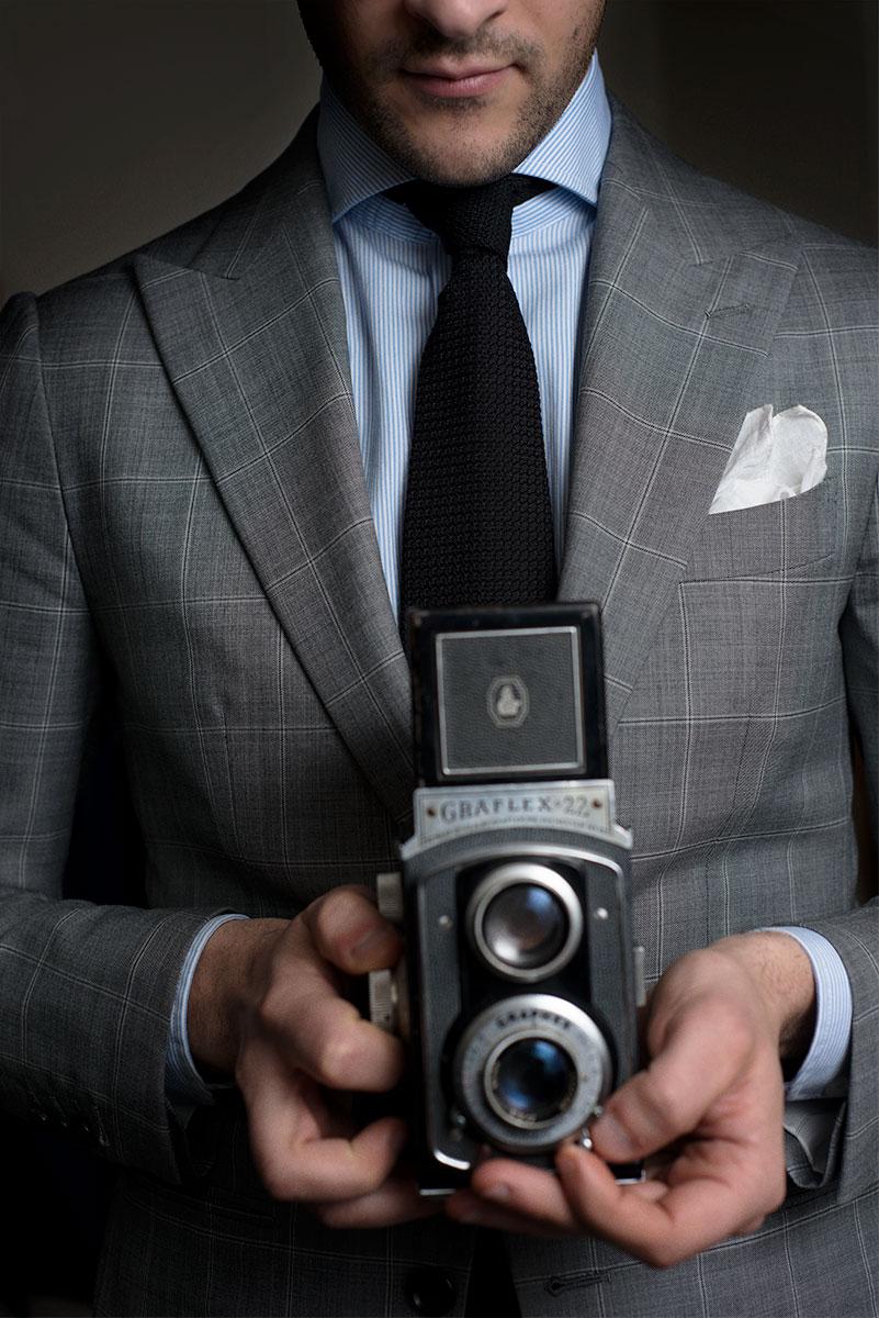 1701bespoke suit + shirt + tie.Detroit.