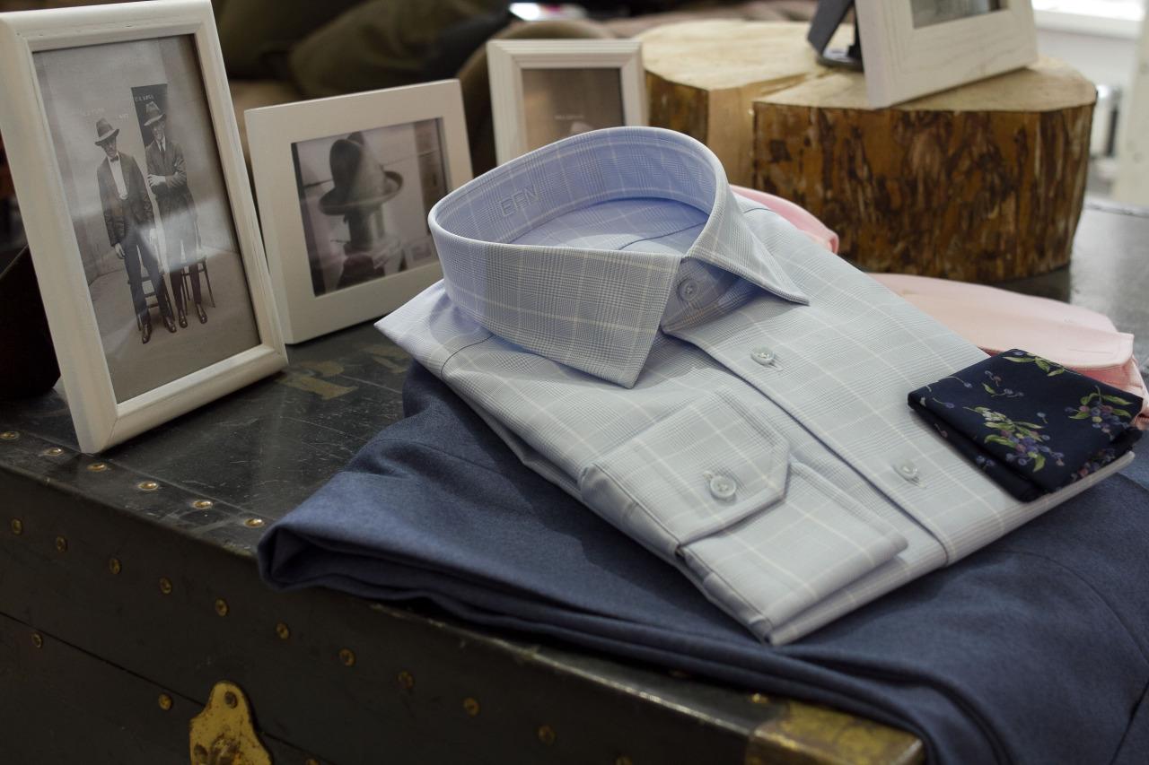 Custom 1701 shirt with custom trousers.