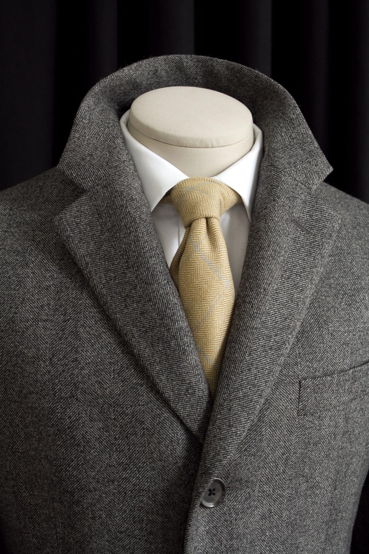 1701 Bespoke overcoat.