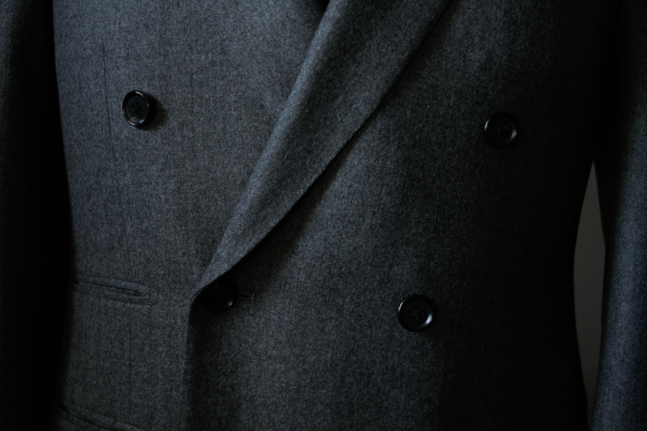 Double-bresated flannel 1701 Bespoke jacket