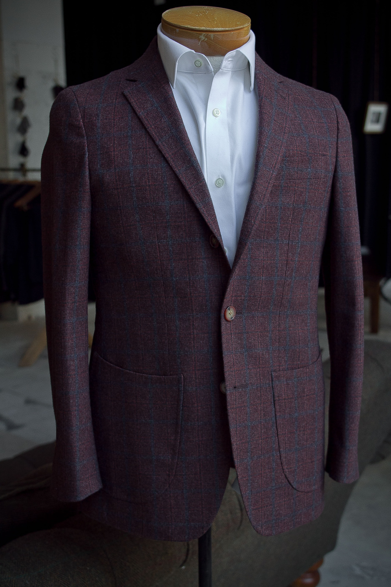 Unconstructed 1701 Bespoke jacket.   Fabric by Ariston of Napoli.