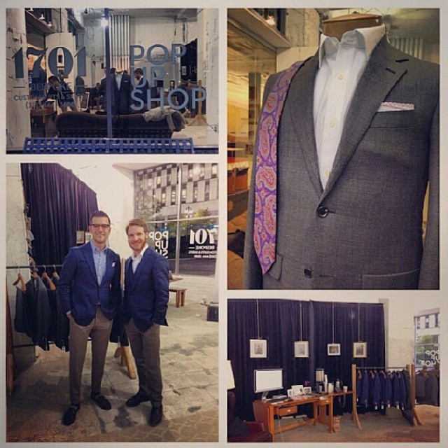 Pics from a couple days ago at  the #1701Bespoke pop up shop! Thanks to @angela_alnajjar for the photo collage.