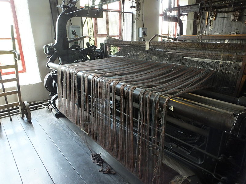Early mechanical loom by UK-based Leeds Industrial.