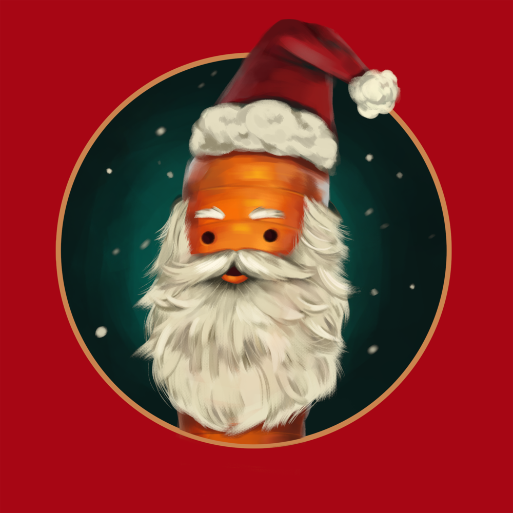Early Kevin Santa beard design