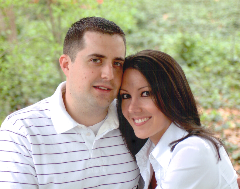 The husband and I at our engagement session in 2006.