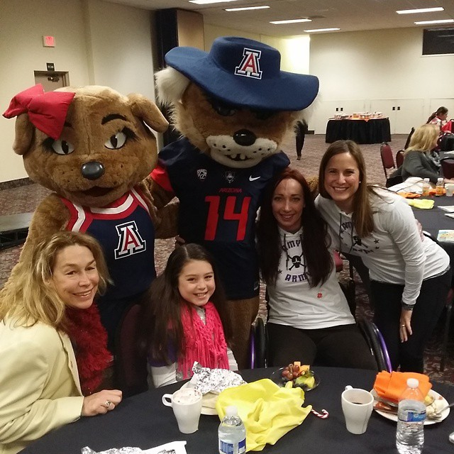 Breakfast with the crew before the Fiesta Bowl parade