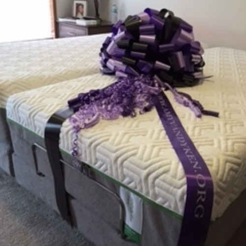 When a person becomes paralyzed, it is impossible to move in bed unless you wake up and roll yourself over. Nikki wasn't sleeping well due to this. Amy's Army gifted her a new bed that will make sleeping more comfortable. She can now raise and lower her head, which will help eliminate pressure sores.
