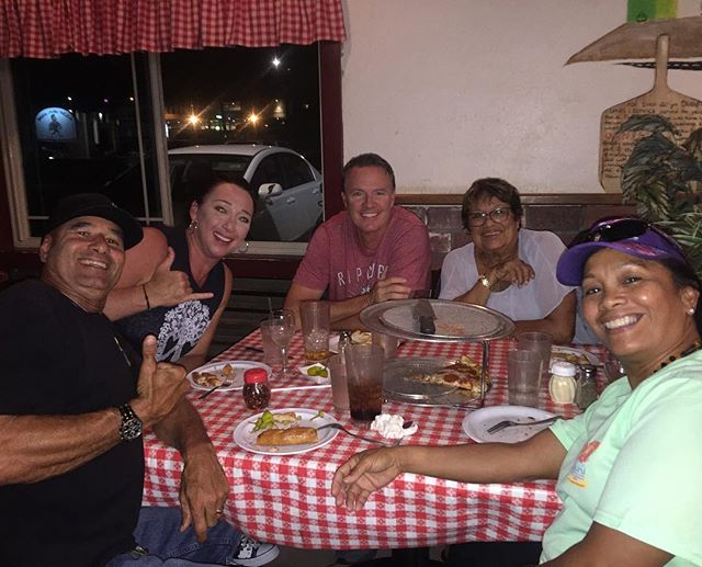 Great night with some of our Ohana at our favorite Brick Oven  Pizza. They have the BEST ♿️sign EVAH! #LoveThem #Ohana
