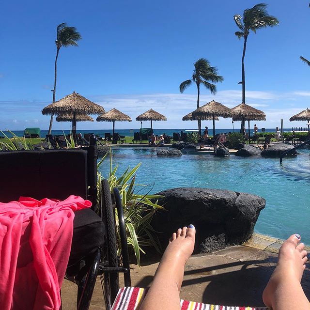 After hanging at Anini beach all day..it's nice to chill at the pool for a bit. #GardenIsland #KauaiLife