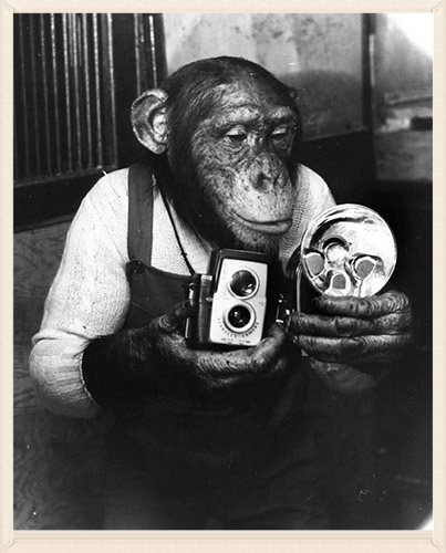 "My idol - Weegee's photo assistant ""Hypo"""