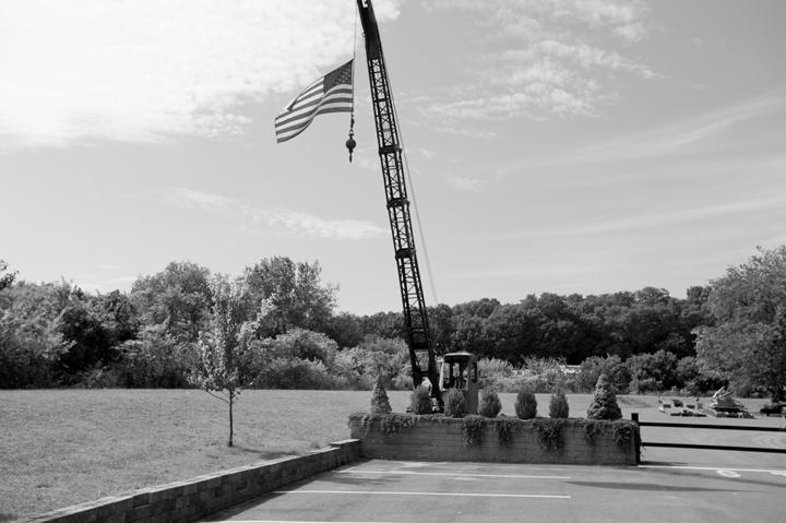 Flag And Crane