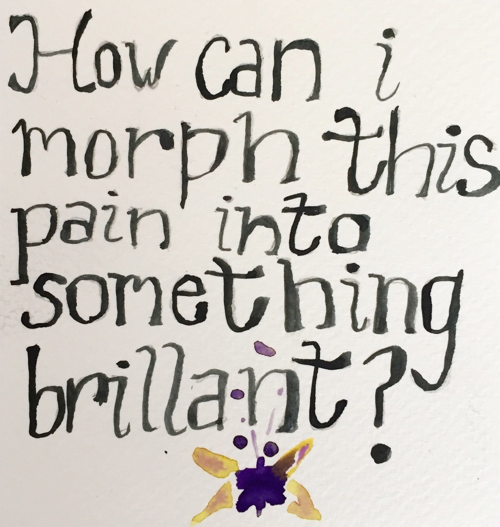 Poem Card: How can I morph this pain, 2015