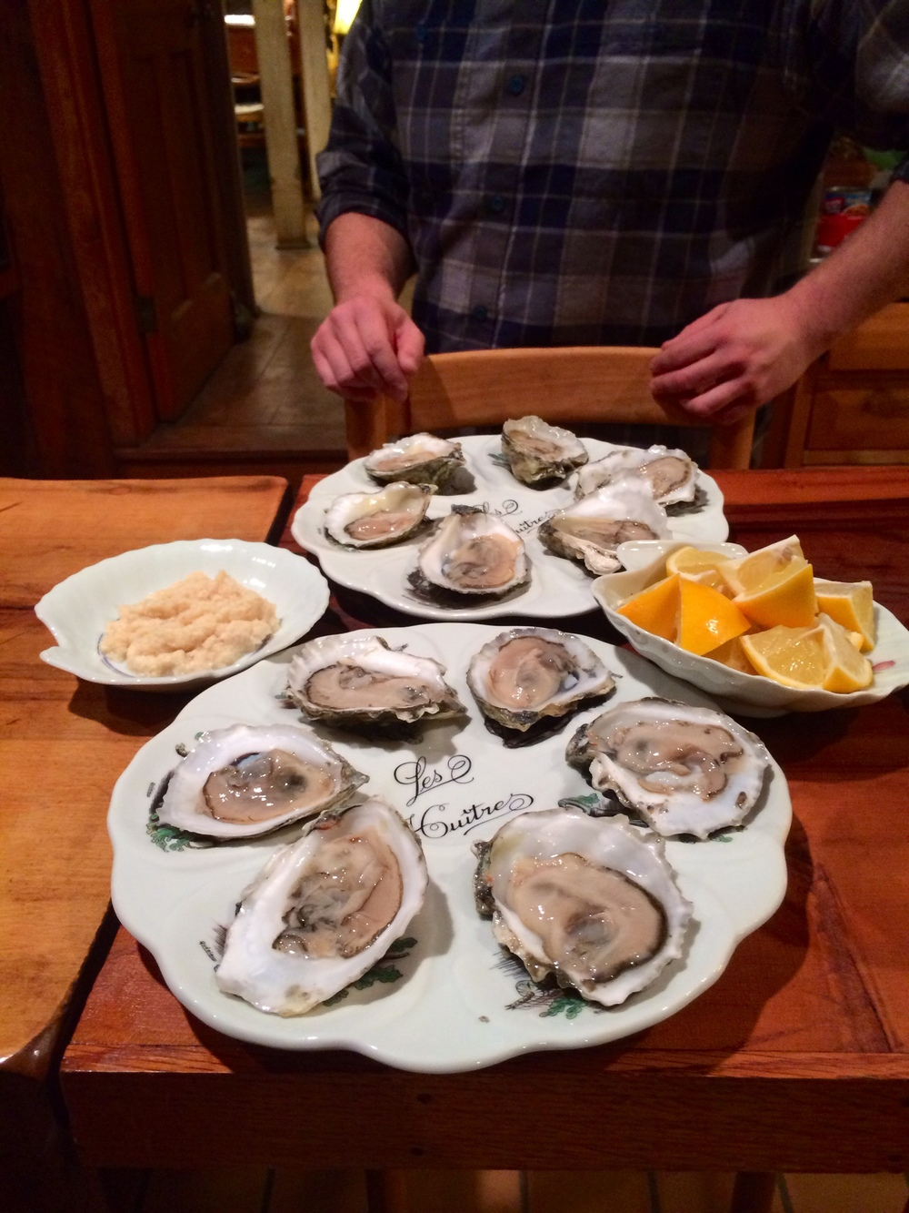 Fresh oysters shucked courtesy of Dave, Brandon, and Andrew