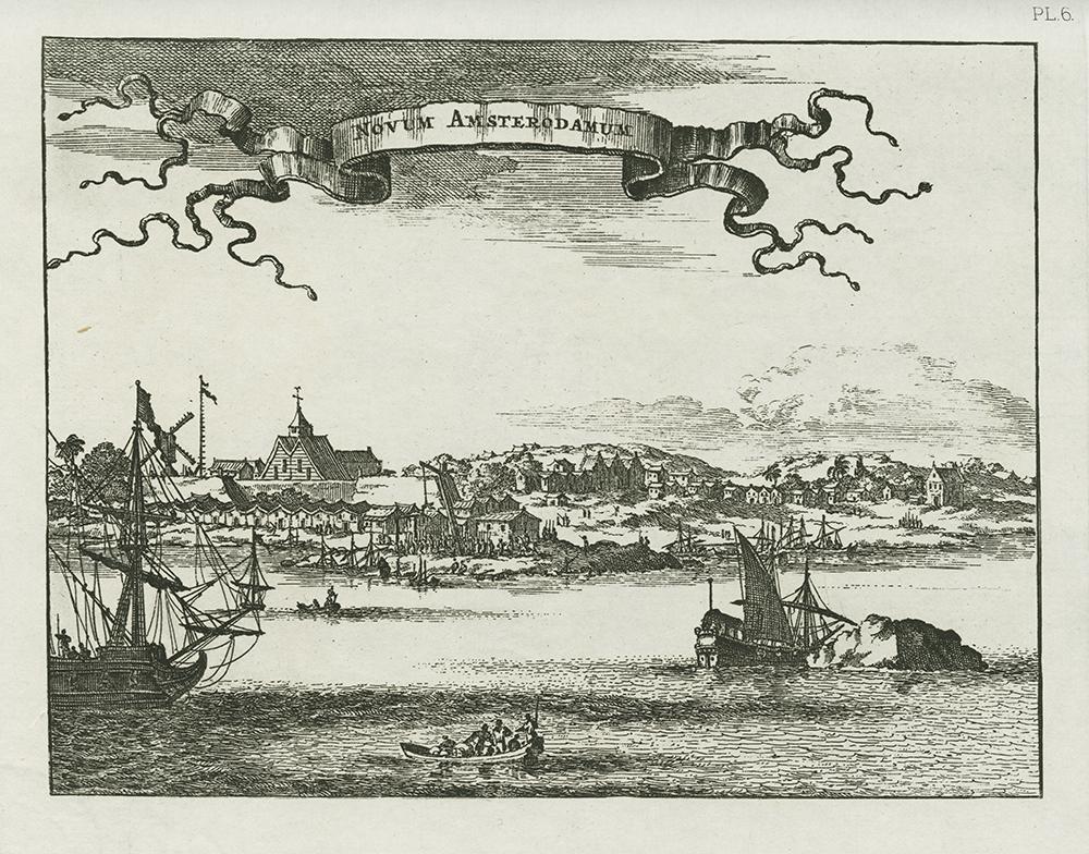 Novum Amsterodamum [The Montanus View] circa 1650