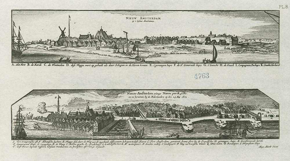 Two views of New Amsterdam
