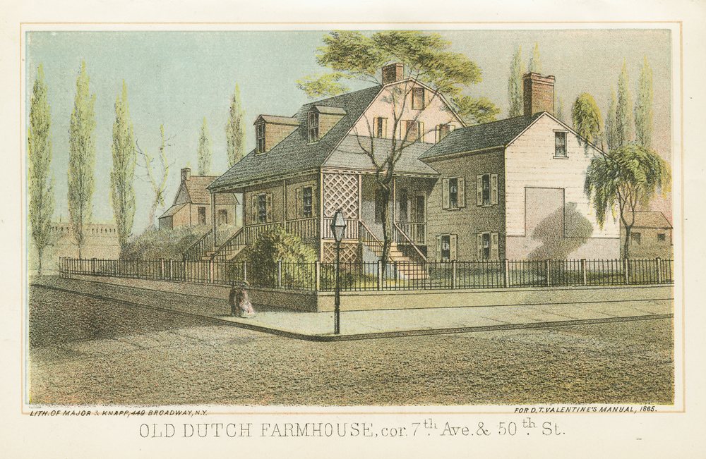 Old Dutch Farmhouse, corner of 7th Avenue & 50th Street