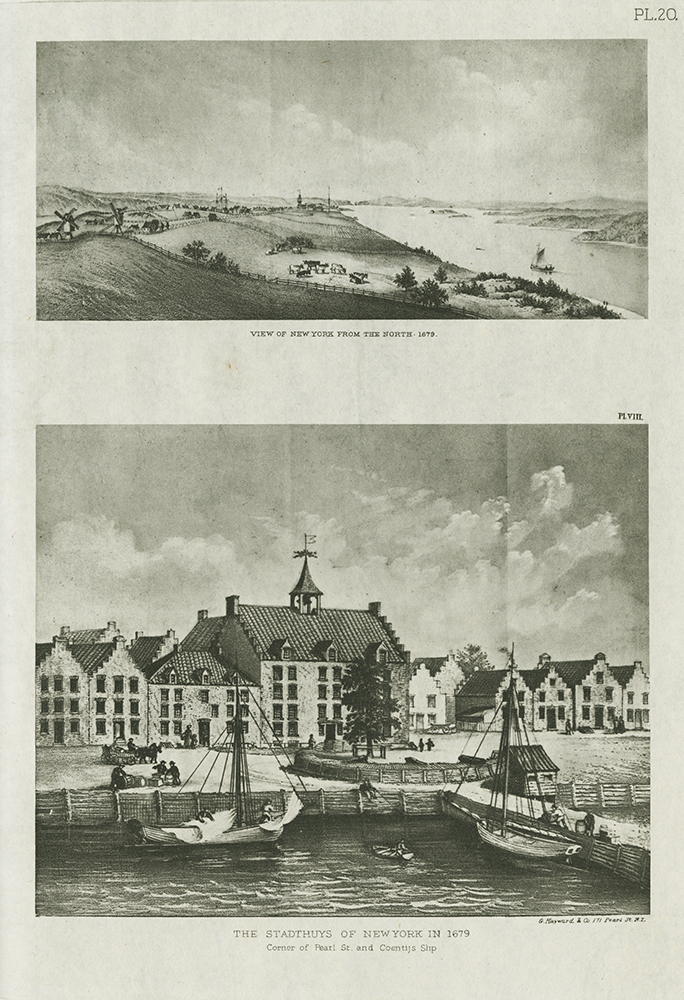 Two views of New York circa 1679