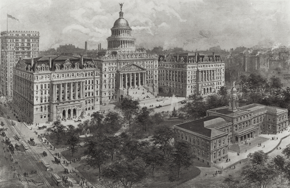 Proposed Civic Center, ca. 1920