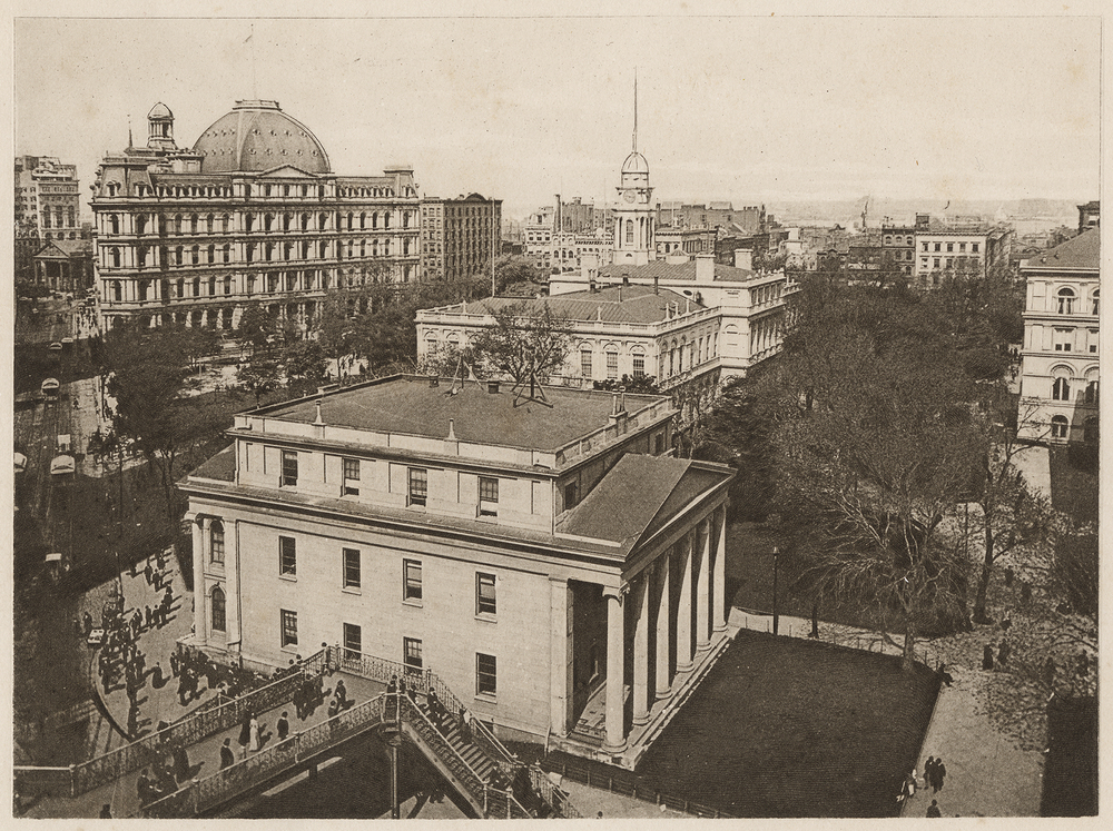 New York City Hall Park, ca. 1900