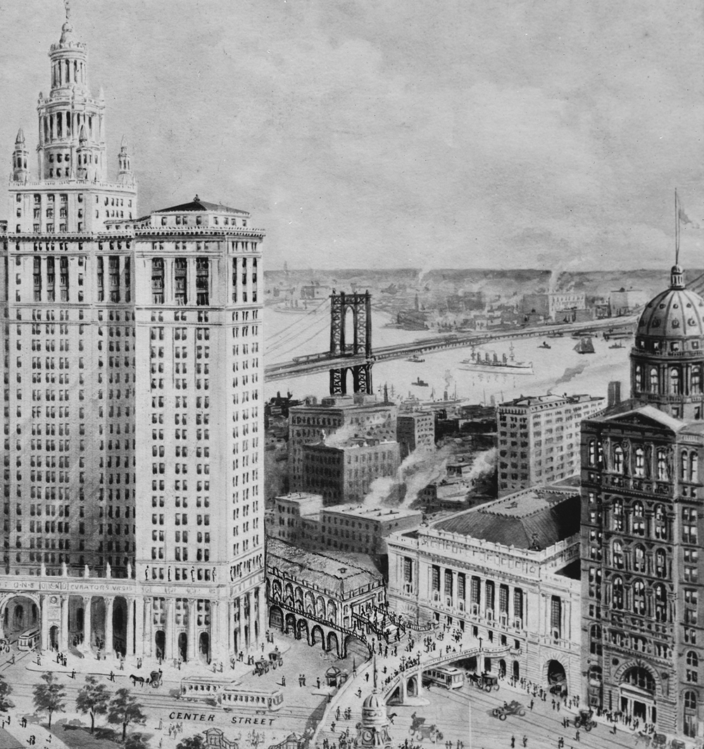 Proposed Brooklyn Bridge City Hall Transit Hub, ca. 1915