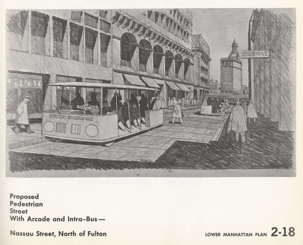 Proposed Nassau Pedestrian Street, 1963