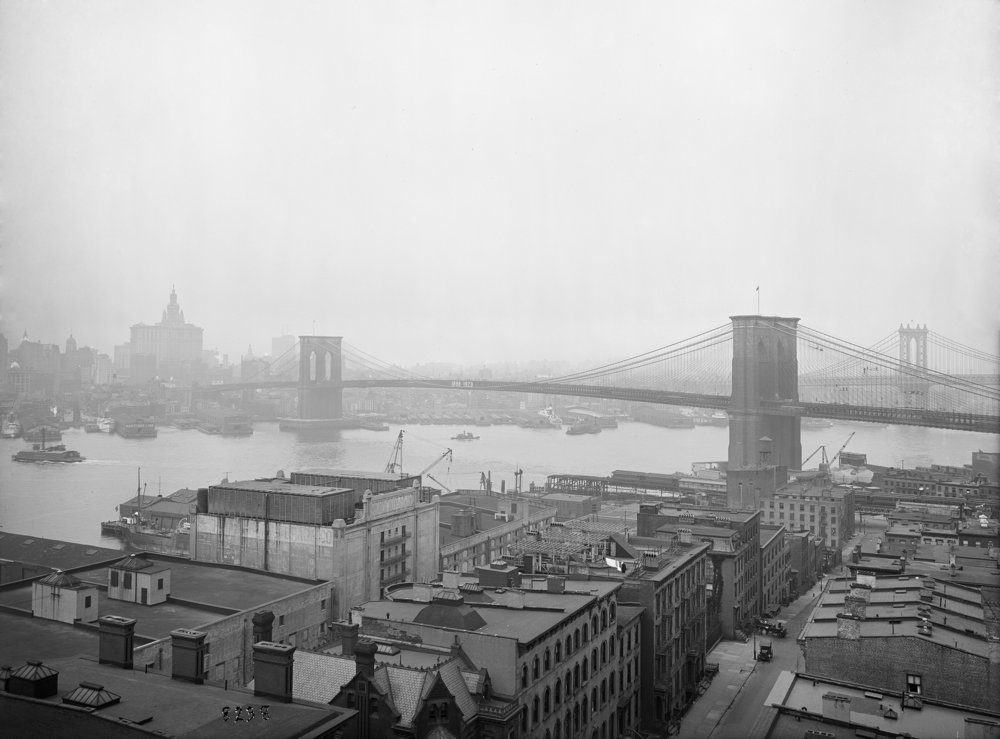 Brooklyn Bridge view from Hotel Margaret, Eugene de Salignac, June 12, 1923