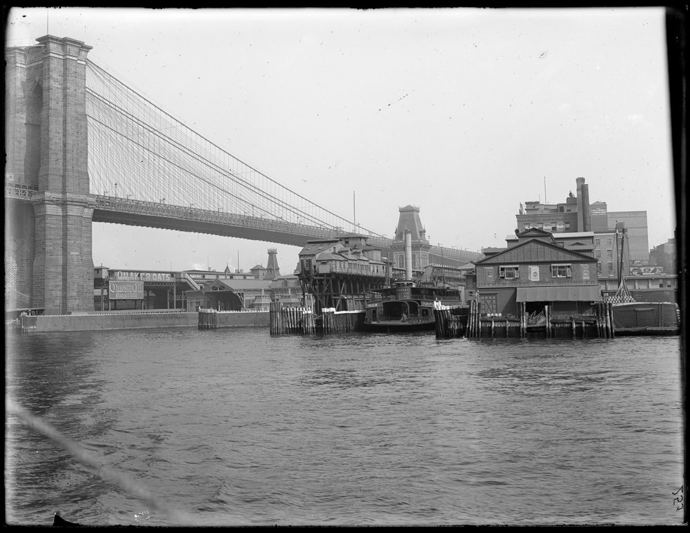 Brooklyn Bridge & Fulton Ferry, ca. 1900