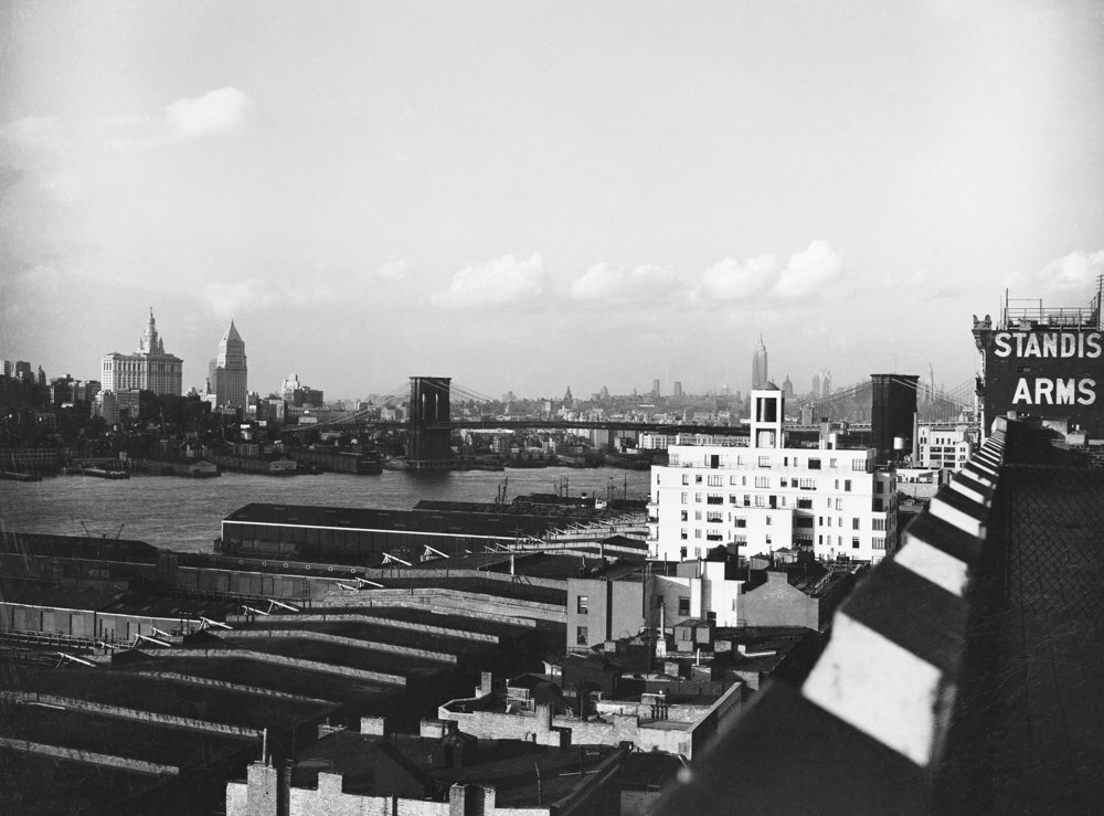 Skyline from Columbia Heights Brooklyn, E.M. Bofinger, 1937