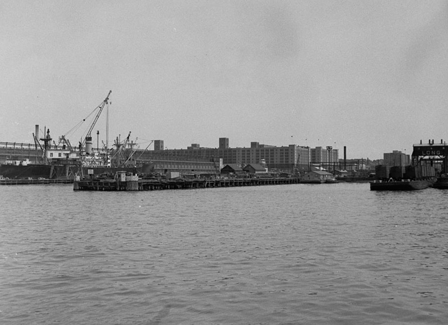 Bush Terminal and Piers, Brooklyn, June 1, 1950.  NYC Municipal Archives