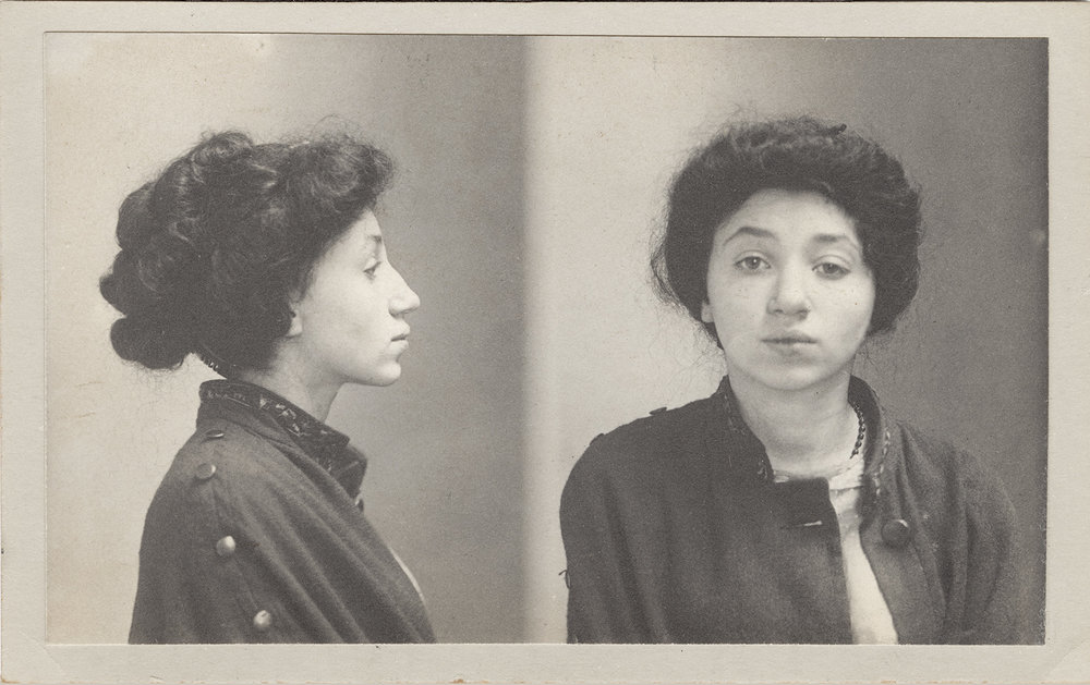 "Esther Ginsberg, June 1, 1910    Crime: ""Disorderly House"""