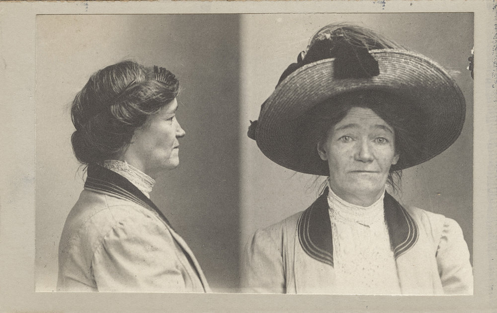 Maggie Moore, August 26, 1910    Crime: Malicious Mischief