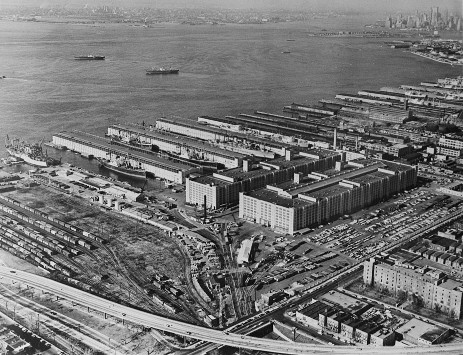US Army Terminal, January 10, 1967. The Army Terminal closed in stages in the 1960s and 70s. NYC Municipal Archives.