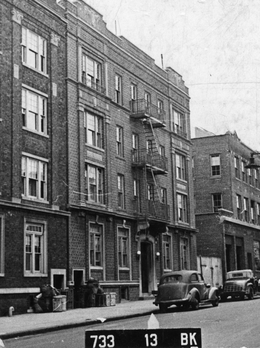 816 43rd Street, Brooklyn, NY. 1939-1941.  NYC Municipal Archives.