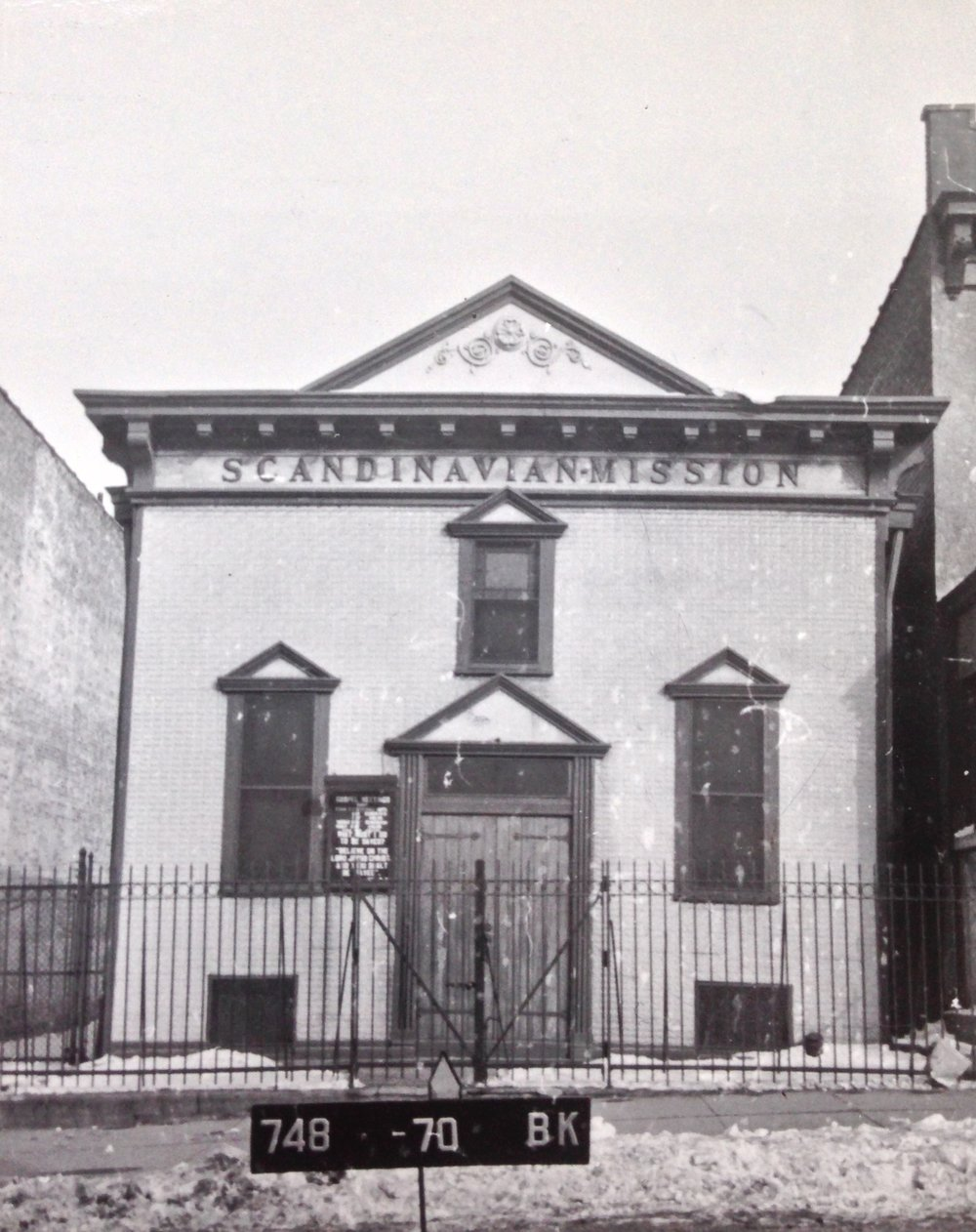 Scandinavian Mission, 517 46th St. between 5th-6th Avenues. 1939-1941. NYC Municipal Archives.
