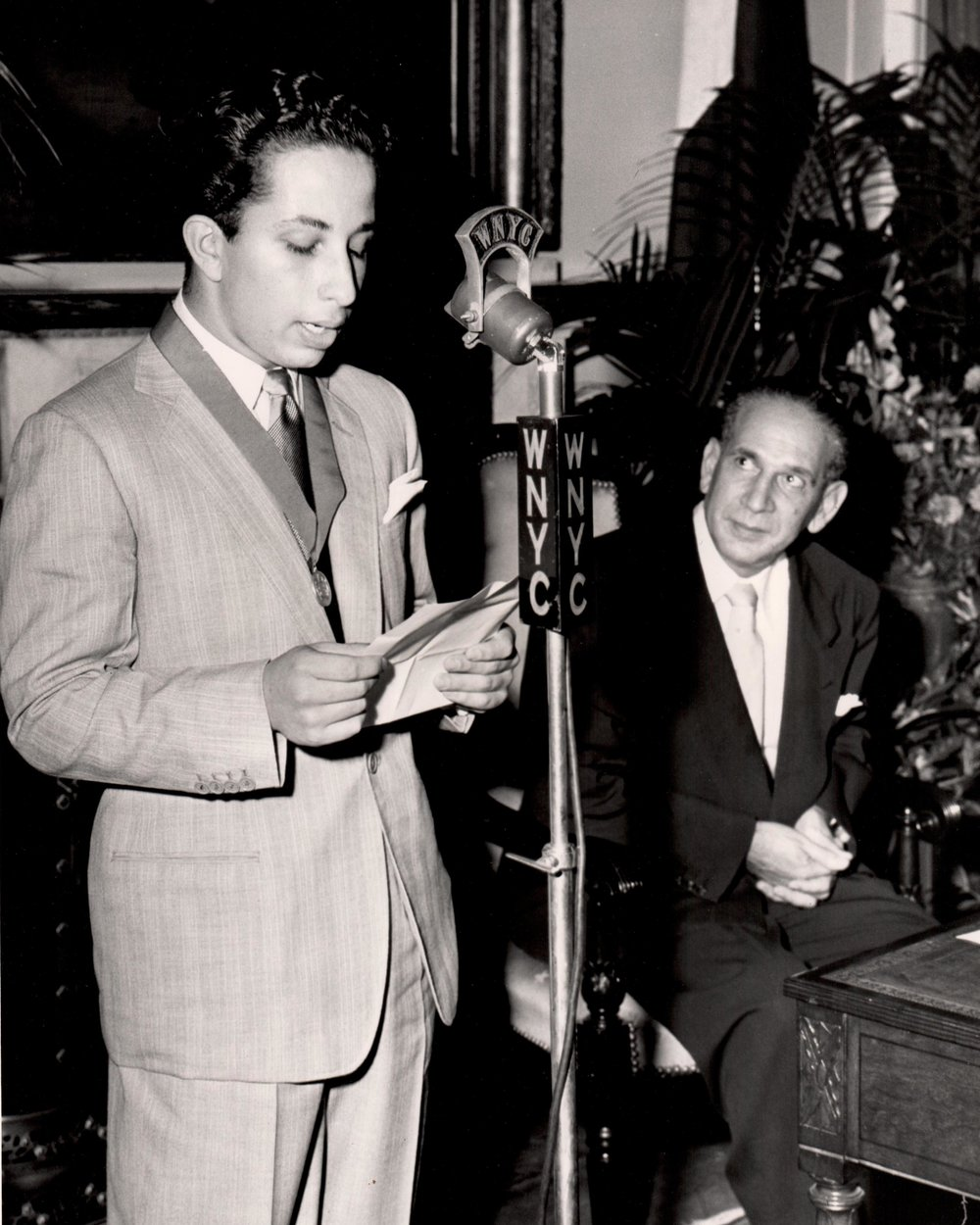 King Faisal II Addressing The City
