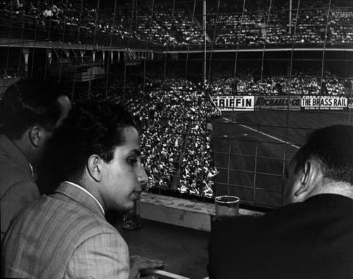Dodgers vs. Giants at Ebbets Field  King Faisal II watching the game from Walter O'Malley's box  Department of State, Harry S. Truman Library & Museum, Accn 72-634
