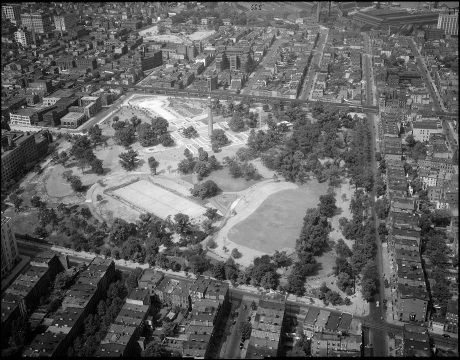 Fort Greene Park, 1937. Department of Parks & Recreation collection, NYC Municipal Archives.