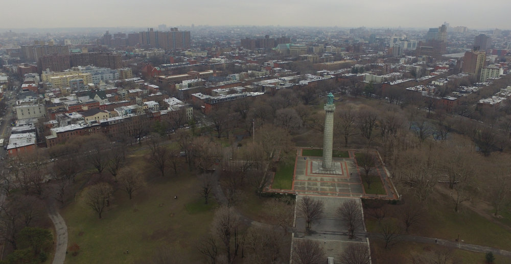 Fort Greene Park monument, facing east. Photo: Darryl Montgomery, 2017.