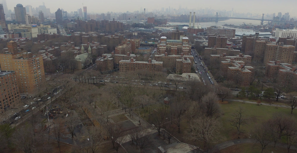 Fort Greene Park northwest corner, facing north. Photo: Darryl Montgomery, 2017.