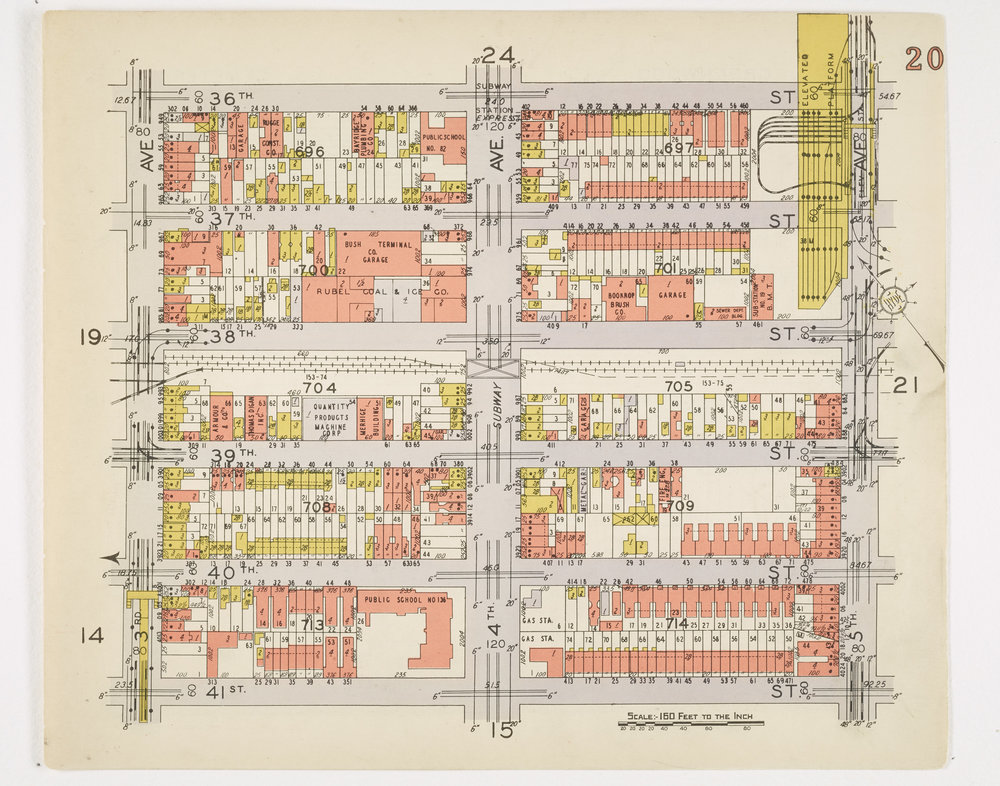 1920s map of store location, NYC Municipal Archives.