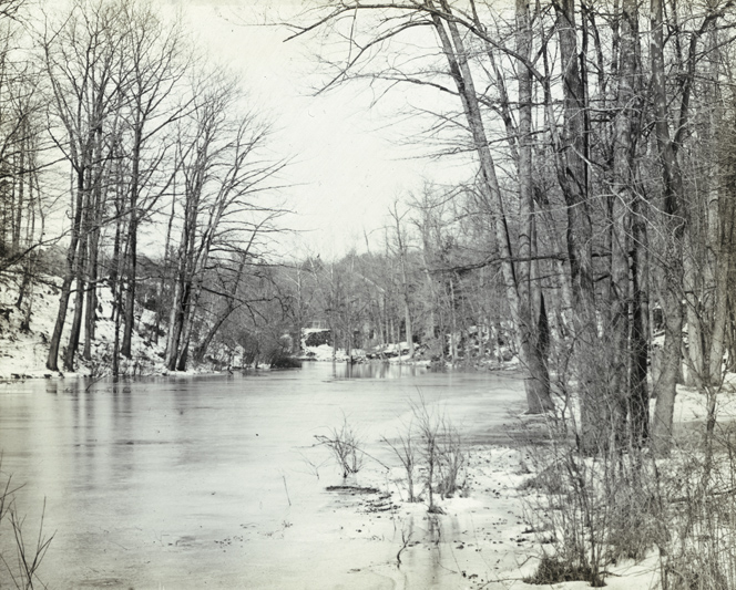 The Bronx River in the New York Botanical Garden, circa 1891-1899. NYC Municipal Archives Collection.