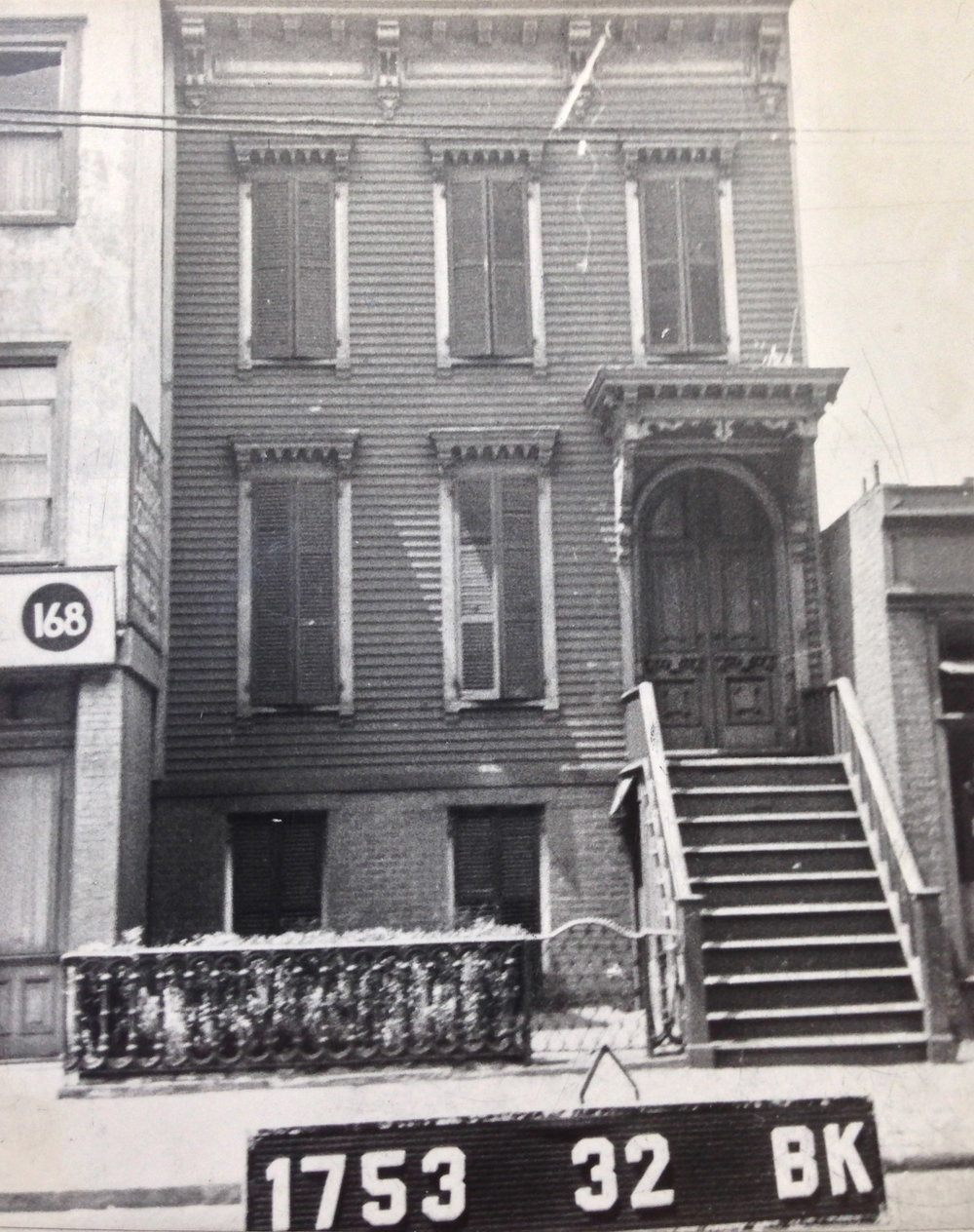 166 Nostrand Ave., early 1940s. Photo: Department of Finance collection, NYC Municipal Archives.